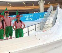 Tobogán de hielo en Lima, navidad