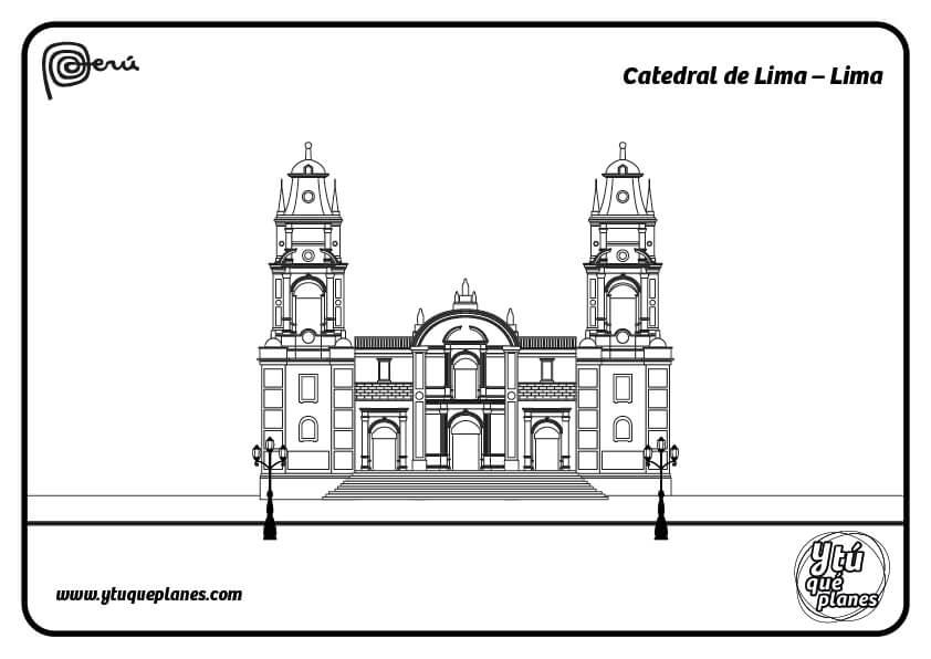 Colorea la Catedral de Lima
