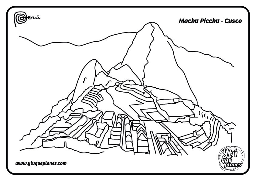 Machu Picchu, colorea nuestra maravilla del mundo