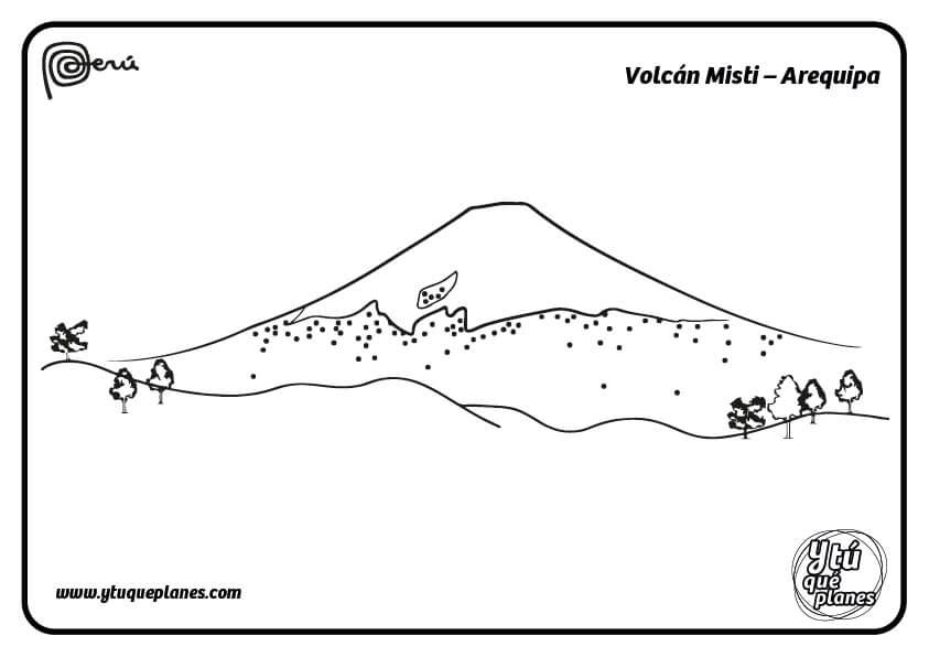 Pinta el Volcán Misti