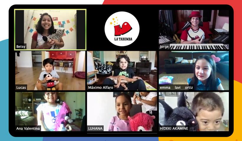 La tarumba, talleres virtuales para niños y adolescentes