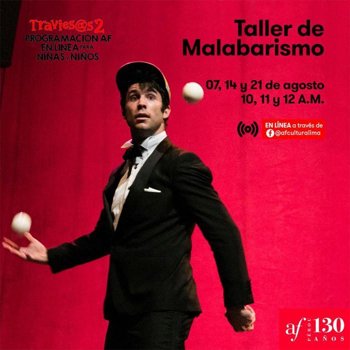 Taller de Malabarismo en la Alianza Francesa de Lima.