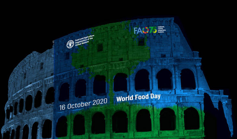 Transmisión online de la ceremonia por el Día Mundial de la Alimentación