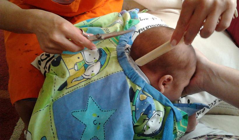 Peluquería para bebés a domicilio