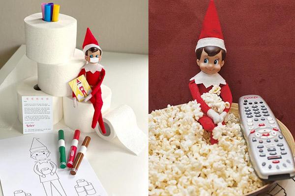 Elfo en el estante, juegos de navidad