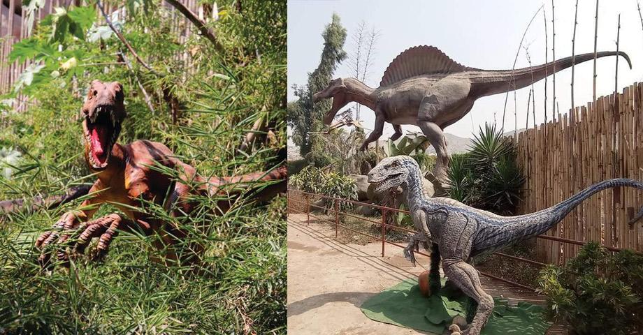 Dinosaurios animados en el Zoológico de Huachipa